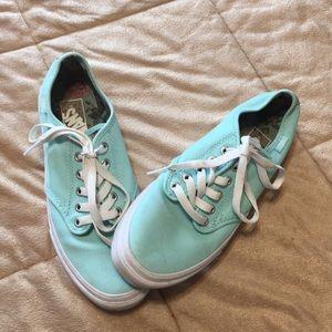 Vans Low Skateboarding Teal Shoes